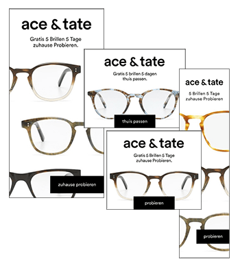 Ace & Tate Dynamic Remarketing HTML5 Banners.